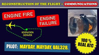 ENGINE FAILURE and ENGINE FIRE | United Boeing 777-200 | Denver airport