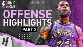 LeBron James BEST Offense Lakers Highlights from 2018-19 NBA Season! CLUTCH Plays (Part 2)