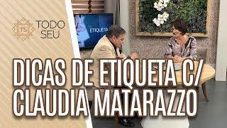 Mix Palestras | Dicas de Etiqueta | Cláudia Matarazzo