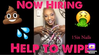 58 year old with World Longest Nails Hiring for wiper!