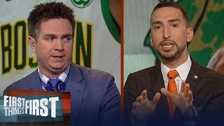 Nick challenges Mannix on saying 'Celtics are more talented than Bucks' | NBA | FIRST THINGS FIRST