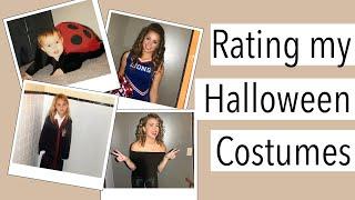 Rating My Halloween Costumes