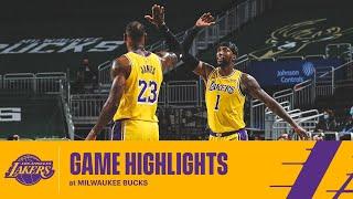 HIGHLIGHTS | Los Angeles Lakers vs Milwaukee Bucks
