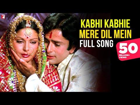 Kabhi Kabhie Mere Dil Mein (Female) - Full Song | Kabhi Kabhie | Shashi | Rakhee | Lata Mangeshkar
