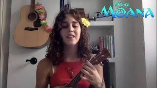 """BEST How Far I'll Go (Auli'i Cravalho from """"Moana"""") UKULELE COVER!!!!"""