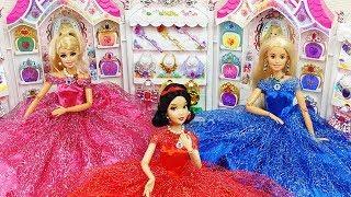 💖PRINCESS BARBIE💖SNOW WHITE JEWELRY CASTLE ACCESSORY DRESS UP 💖बार्बी गुड़िया आभूषण कैसल ड्रेस अप