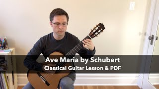 Lesson: Ave Maria by Schubert for Classical Guitar