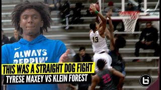 THIS WAS A STRAIGHT DOG FIGHT! Tyrese Maxey Vs Klein Forest Rd 5 Playoff Game