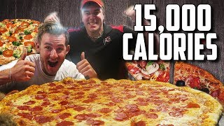 "MASSIVE 30"" PIZZA CHALLENGE WITH RANDY SANTEL! (15,000+ CALORIES)"