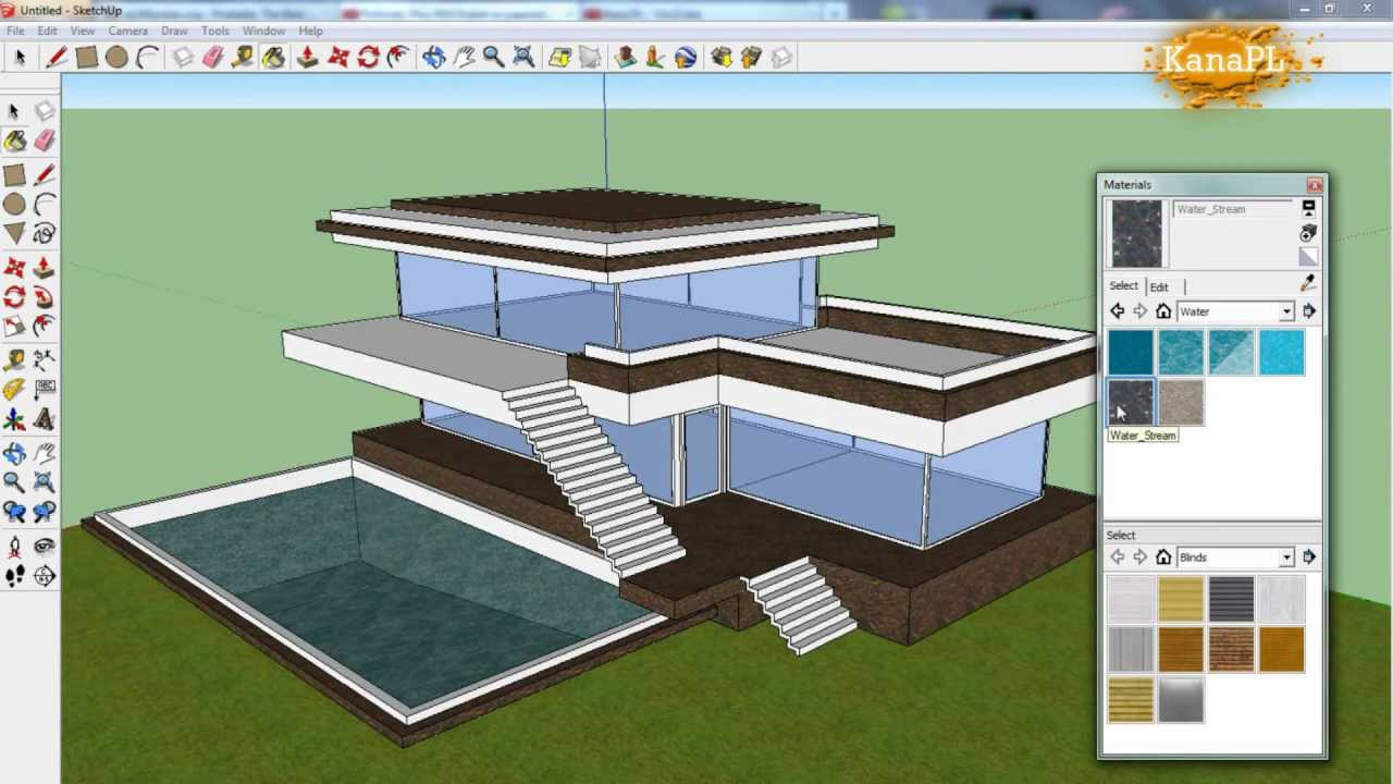 1 modern house design in free google sketchup 8 how for Google house design