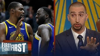 Nick Wright believes Draymond Green 'crossed the line' with Kevin Durant   NBA   FIRST THINGS FIRST