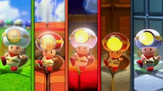 Super Mario 3D World - All Captain Toad Stages