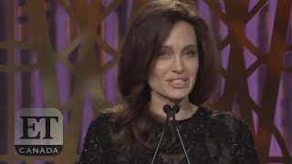 Angelina Jolie Speaks At Women In Entertainment Event