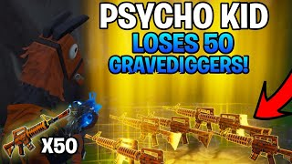 Psycho Kid Loses 50 Grave Diggers! (Scammer Gets Scammed) Fortnite Save The World