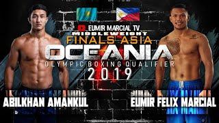 Eumir Marcial (PHI) vs. Abilkhan Amankul (KAZ) /  Finals / 2020 Tokyo Olympic Boxing Qualifier
