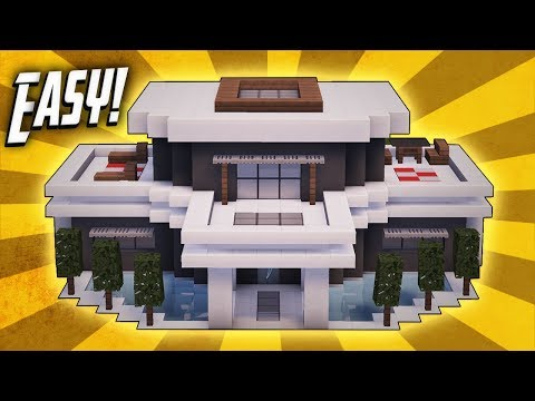Minecraft how to build a large modern house tutorial 20 for Minecraft big modern house tour
