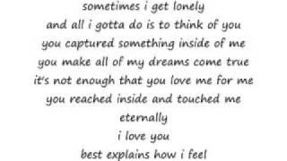because of you - kyla w/ lyrics