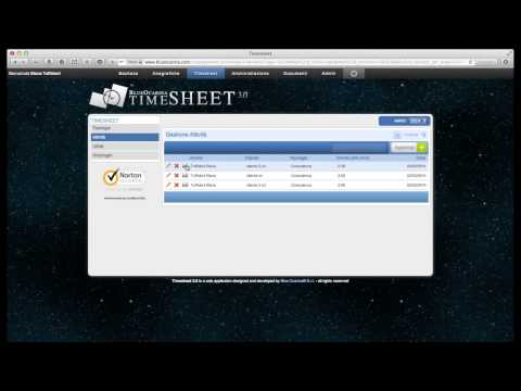 Timesheet 3.0 video tutorial: stampa attività - rapporto d'intervento