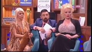 Maja Nikolic i Dara Bubamara upale kod  Ognjena :) - Ami G Show - (TV Pink, 16. 5. 2017)