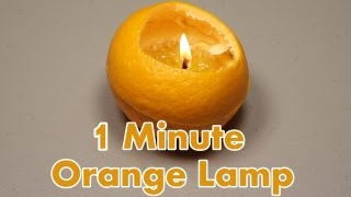 Make a Lamp from an Orange in 1 minute