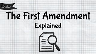 The First Amendment Explained | Quick Learner video