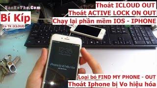 Bí kíp giúp IPHONE thoát VÔ HIỆU HOÁ, MÁY quên mật khẩu PASS CODE (cần tk icloud)