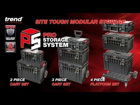 Trend MS/P/SET2C 2 Piece Pro Modular Cart Set