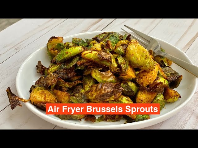 Bonding over Chai - Show Me The Curry |  Brussels Sprouts in the Air Fryer Recipe