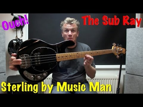 Sterling by Musicman Sub Ray 4 Bass Guitar (Black/Maple)