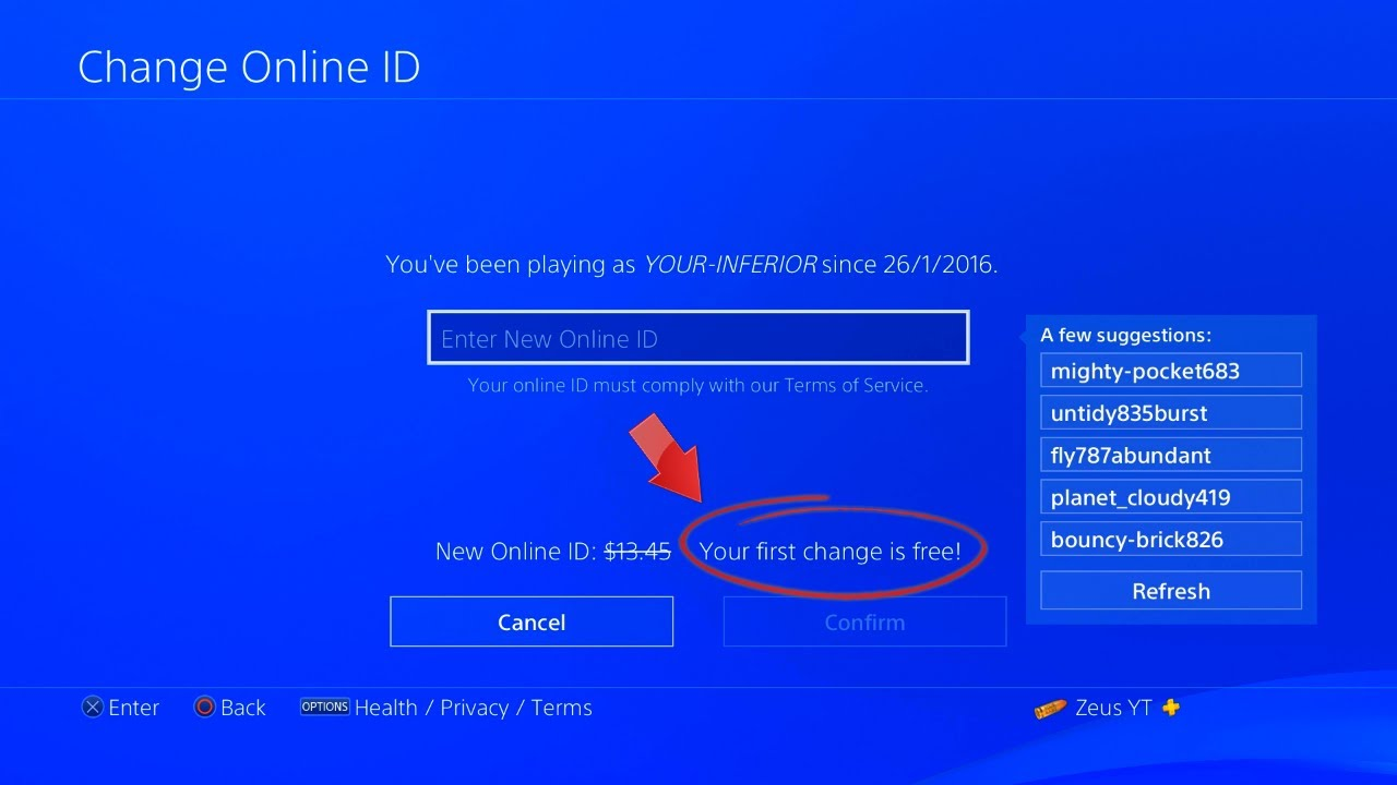 How to change your name on PS4 - YouTube