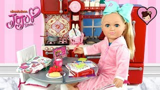 Jojo Siwa Doll Homeschool Morning Routine - Dollhouse Kitchen & School Supplies