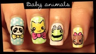 Baby Animals nail art