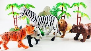 Learn zoo animals for kids wild animals names video for kids learn colors for kids educational video