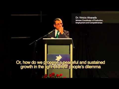 Minister Vinicio Alvarado - Vision for the productive sector nov/26/2015 #RepublicofOpportunities