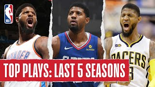 Paul George's TOP PLAYS | Last 5 Seasons