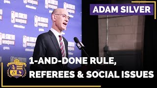 NBA Commissioner Adam Silver Addresses One-And-Done Rule, Referees And Social Issues
