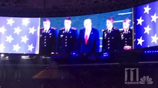 Here's what it sounded like when President Trump entered Mercedes-Benz Stadium