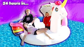 LAST TO LEAVE THE GIANT FLOATY WINS $10,000 CHALLENGE!