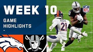 Broncos vs. Raiders Week 10 Highlights | NFL 2020