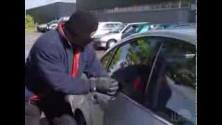 Llumar Automotive Security Film (Center punch glass breaking)