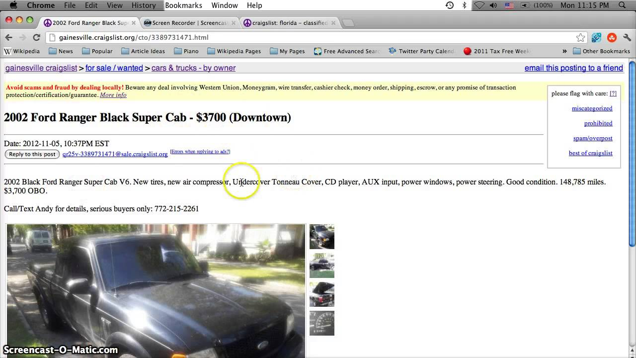 Craigslist Gainesville Florida Used Cars And Trucks