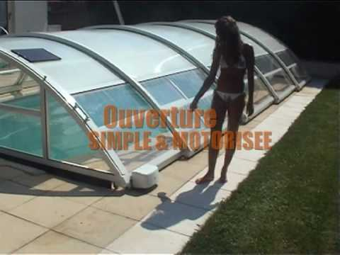 abri de piscine telescopique mi haut poolabri un abri. Black Bedroom Furniture Sets. Home Design Ideas