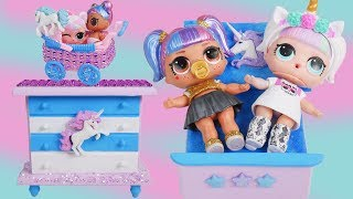 LOL Fake Bedroom Toys with Custom Unicorn Surprise Doll - #Hairgoals Series 5 Boy