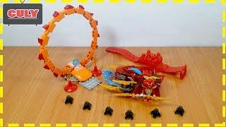 Ráp Lego Chima lái xe chạy qua vòng brick toy for kids đồ chơi trẻ em