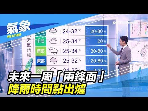 未來一周「兩鋒面」 降雨時間點出爐|三立準氣象|20200318|三立新聞台