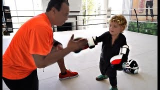 Mini Jake Paul TRAINS For Deji