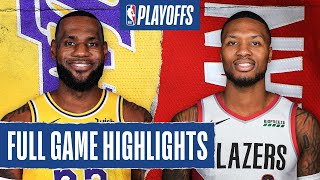 LAKERS at TRAIL BLAZERS | FULL GAME HIGHLIGHTS | August 22, 2020