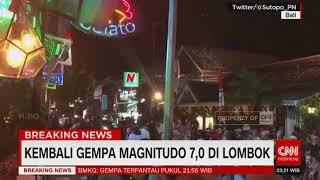 Breaking News! Gempa Bermagnetudo 7.0 Kembali Guncang Lombok, Tak Berpotensi Tsunami, Listrik Padam