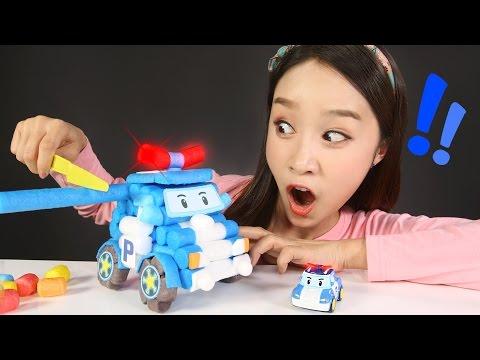 캐리의 로보카폴리 플레이콘 장난감 폴리 만들기 놀이 CarrieAndToys