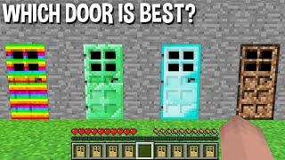 WHICH DIRT DOOR or DIAMOND DOOR or GOLD DOOR or RAINBOW DOOR or BEDROCK DOOR is BEST in Minecraft ?